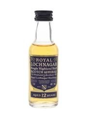 Royal Lochnagar 12 Year Old Bottled 1990s 5cl / 40%