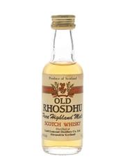 Old Rhosdhu Bottled 1990s - Loch Lomond Distillery 5cl / 40%
