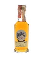 J W Dant Genuine Sour Mash Bourbon Bottled 1950s-1960s 4.7cl / 43%