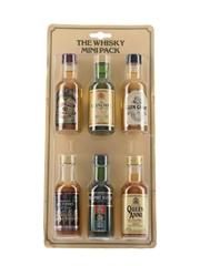 Seagram Whisky Mini Pack Chivas Regal, Glenlivet, Glen Grant, 100 Pipers, Passport, Queen Anne 6 x 5cl / 40%