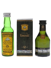 Cutty Sark 12 Year Old & Blended Scots Whisky  2 x 5cl / 43%