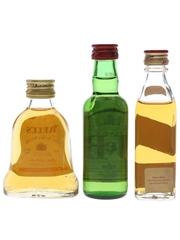 Bell's, J & B, Johnnie Walker  3 x 5cl / 40%
