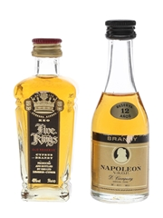 D Campeny Napoleon 12 Year Old VSOP & Keo Five Kings Bottled 1980s-1990s 2 x 5cl