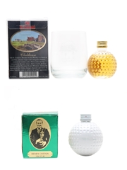 Old St Andrews Golf Ball Miniatures  2 x 5cl / 40%