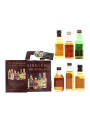 Whiskies Of The World Set Aberlour, Bushmills, Clan Campbell, Jameson & Wild Turkey 6 x 5cl