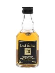 Lord Balliol 20 Year Old Cask 1  5cl / 40%