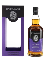 Springbank 18 Year Old Bottled 2020 70cl / 46%