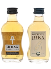 Jura Superstition & 10 Year Old  2 x 5cl