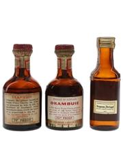 Drambuie & Lochan Ora Bottled 1960s & 1970s 3 x 5cl / 40%