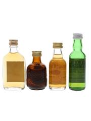 Carlton, Grand Old Parr, Teacher's & William Lawson's Bottled 1980s 4 x 4cl-5cl