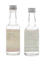 Smirnoff Red Label Bottled 1970s & 1980s 2 x 5cl / 37.5%