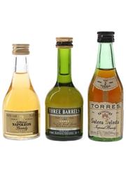 St Michael, Three Barrels & Torres  3 x 5cl