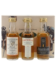 Gordon & MacPhail Traditional Miniatures Bottled 1990s - Port Ellen, Imperial & Inverleven 3 x 5cl / 40%