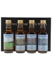 Balvenie, Benveg, Caperdonich, Glendronach Sailing Ships Series No.1 Araby Maid, Benan, Bencleuch - Signatory Vintage 4 x 5cl