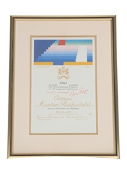 Chateau Mouton Rothschild 1984 Framed Label Print