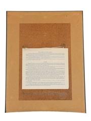 Chateau Mouton Rothschild 1984 Framed Label Print Yaacov Agam 31cm x 41cm