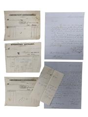 John Lyons & Co. Riverstown Distillery Correspondence & Receipts, Dated 1845-1849