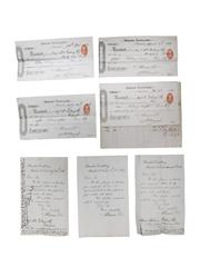 Allman & Co. Bandon Distillery Receipts, Dated 1886 & 1887
