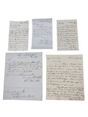 James Jameson Marrowbone Lane Distillery Correspondence, Dated 1844-1847