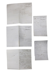 James Jameson Marrowbone Lane Distillery Invoices, Dated 1847 William Pulling & Co.