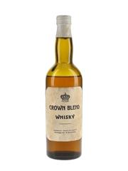 Crown Blend Whisky Bottled 1960s - Sweden 50cl