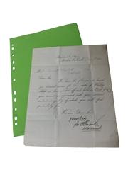 Allman & Co. Bandon Distillery Correspondence, Dated 1880