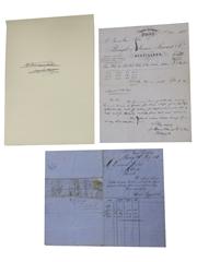 James Stewart & Co. Saucel Distillery Correspondence, Dated 1882 & 1883