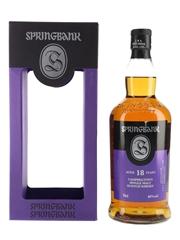 Springbank 18 Year Old Bottled 2015 70cl / 46%