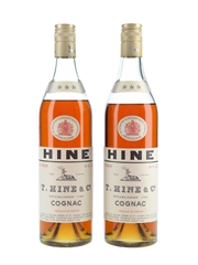 Hine 3 Star Bottled 1970s 2 x 68cl / 40%