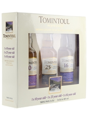 Tomintoul Triple Pack - The Gentle Dram 10, 16 & 25 Year Old 3 x 5cl / 40%