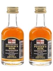 Pusser's British Navy Gunpowder Proof Rum Guyana 2 x 5cl / 54.5%