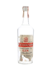 Nicholson Finest London Dry Gin Bottled 1960s 100cl