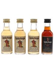 Captain Morgan Black Label & Spiced Rum  4 x 5cl