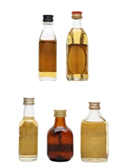 Assorted Blended Scotch Whisky Argyll, Grant's, Old Smuggler, Robbie Burns & Tuxedo 5 x 3cl-5cl
