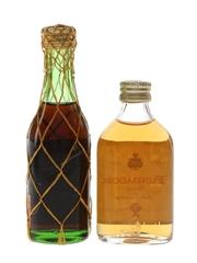 Pedro Domecq Fundador & Terry Centenario Brandy Bottled 1960s & 1970s 2 x 5cl