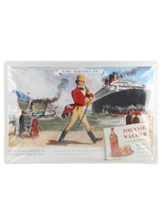 Johnnie Walker - Time Marches On! Tin Sign