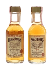 Early Times Bottled 1980s 2 x 5cl