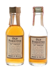 Old Forester Bottled 1970s 2 x 5cl / 40%