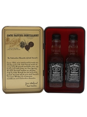 Jack Daniel's Old No.7 Old Time Tennessee Whiskey Bottled 1990s 2 x 5cl / 40%