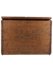 Johnnie Walker Kilmarnock Whisky Wooden Crate