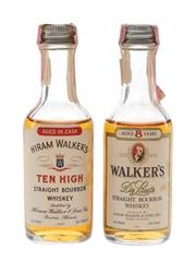 Walker's 8 Year Old & Ten High Bottled 1970s 2 x 4.7cl / 40%