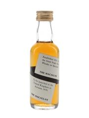 Macallan Spiral Label Bottled 1970s - Trade Sample 5cl / 40% ABV