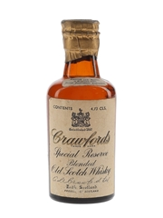 Crawford's Special Reserve Spring Cap Bottled 1950s-1960s 4.73cl