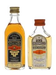 Old Bushmills Black Bush & 3 Star Bottled 1980s 5cl & 7.1cl / 40%