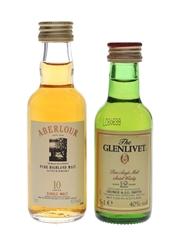 Aberlour 10 Year Old & Glenlivet 12 Year Old