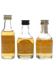 Cragganmore, Dalwhinnie & Glenkinchie Bottled 1990s 3 x 5cl