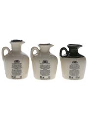 Lindisfarne Glen Fiona Ceramic Decanters  3 x 4.7cl-5cl / 40%