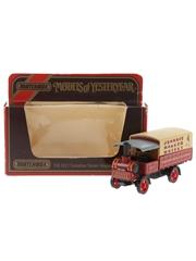 Johnnie Walker Whisky Y-8 1917 Yorkshire Steam Wagon Matchbox - Models Of Yesteryear 10cm x 5cm x 3cm