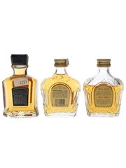 Canadian Club & Crown Royal Bottled 1980s 3 x 5cl / 40%