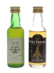 Poit Dhubh 12 Year Old Bottled 1980s-1990s 2 x 5cl